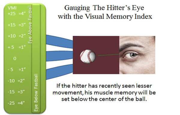 Gauging the Hitters Eye with the Visual Memory Index